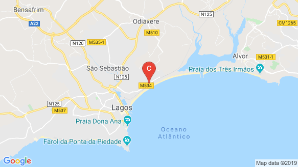 Lagos Beach Resort & Spa location map