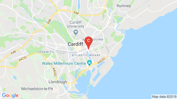 Opto Student Cardiff location map