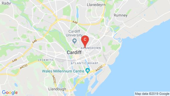 Vita Student Cardiff location map