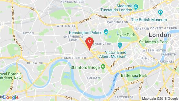 Bản đồ khu vực Kensington Row