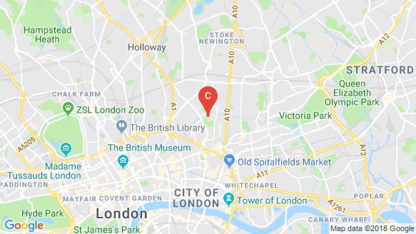 แผนที่สถานที่ Hoxton Press