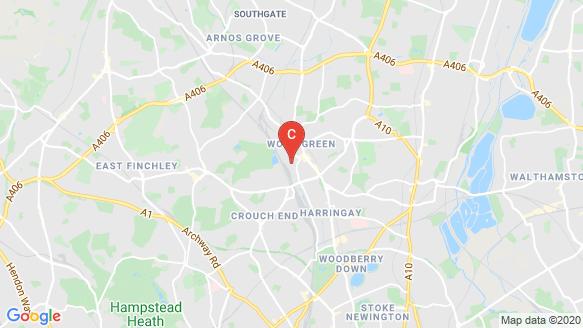 Alexandra Palace Gardens, Clarendon location map